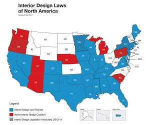 Interior Design Practice Act States